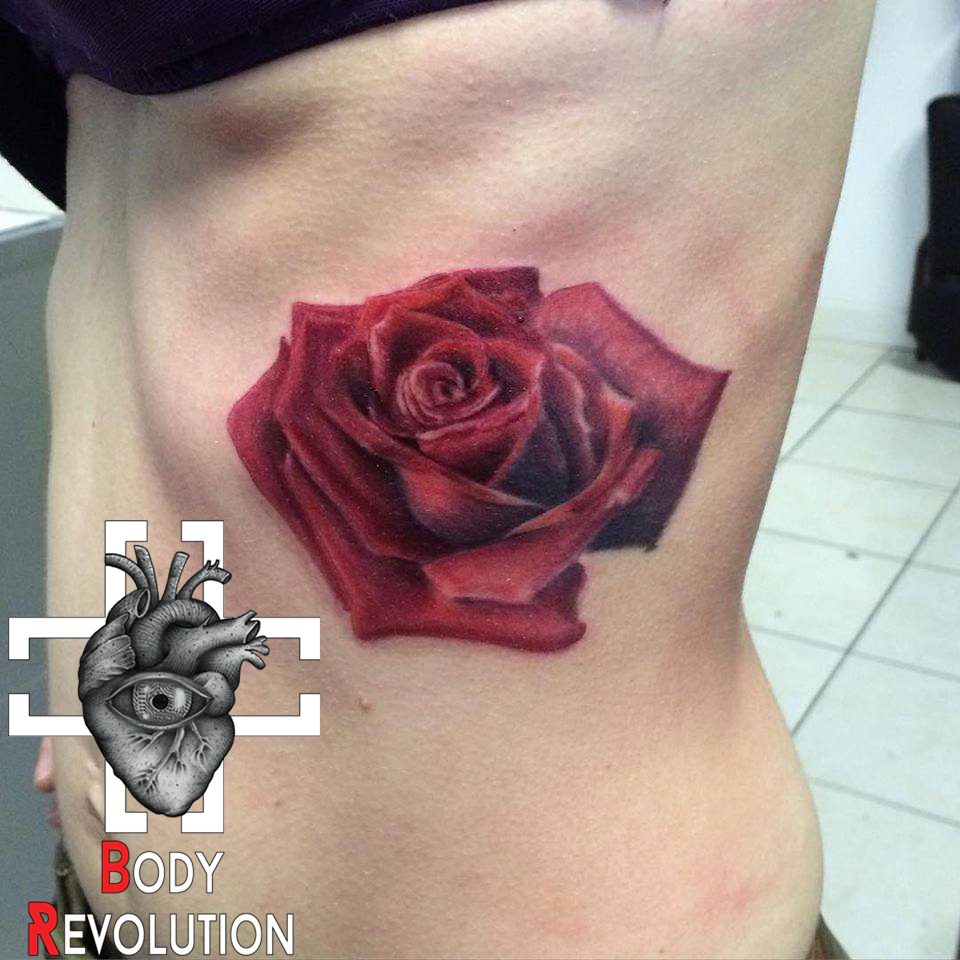 Tatouage Tattoo Rose Realiste Tattoo Tatouage Cote Ombrage Interflora